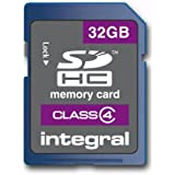 Integral INSDH32G4V2 Carte Mémoire Flash SDHC Classe 4 32 Go