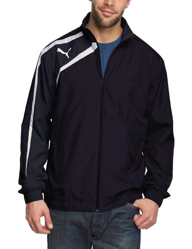 Puma Herren Jacke Spirit Woven, New Navy/Blue Nights/White, S, 653584 06 - Herren Stepp Polo Jacke
