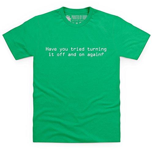 Off and On - T-shirt, Uomo Verde smeraldo