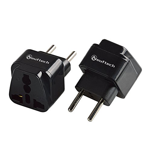 Neuftech® 2x Universal Reisestecker Adapter Travel Plug EU Stecker europa Deutschland auf UK USA,China,Kanada,Japan,Thailand,Mexiko,Philippinen usw