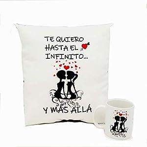 Pack Enamorados Cojín + Taza