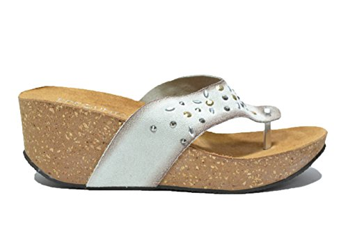 Pregunta Ciabatte zeppa off white infradito sandali donna IG8902002 39