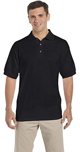 U-SHOT Herren Short Sleeve Regular Fit Tops Casual Polo Shirts Schwarz