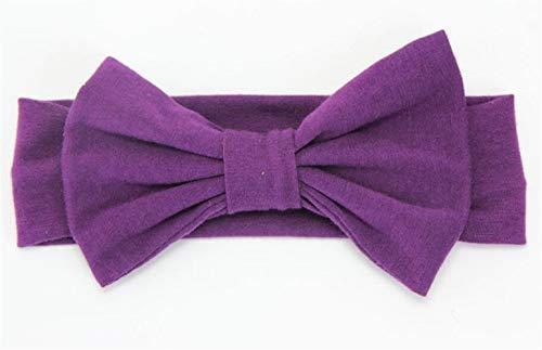 Huyizhi accessori per ragazze fascia per capelli vintage classica per bambina (viola)