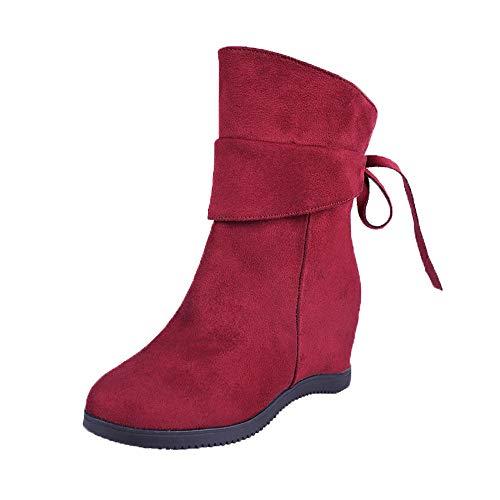 Mujer y Niña Botas otoño fashion carnaval,Sonnena ❤️ Zapatos de tacón bajo de mujer con plataforma gruesa Botas de plataforma de tacón alto Mayor grosor dentro de las botas de moda