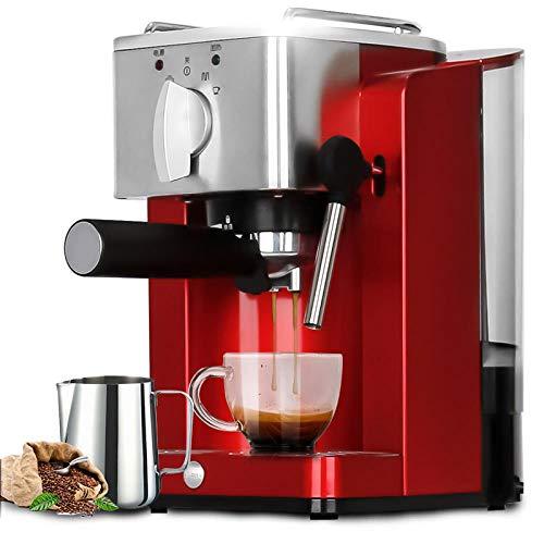 Halbautomatischen kaffeemaschinen espresso - Maschine für private, kommerzielle dampf, Rot - Kommerzielle Espresso-maschine