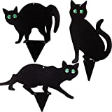 PestExpel® Set of 3 Black Cats - Bird Rodent Humane Scarers,Repeller Deterrent Garden