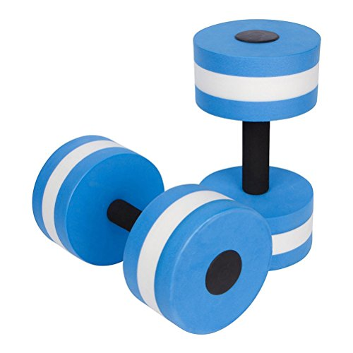 WINOMO Hanteln Fitness Wasser Aerobic-Training Aqua Hanteln Aquajogging 2 Pcs (Blau)