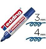 edding Permanent-Marker Spitze Faser 550blau N.3–Rundspitze (10Stück)