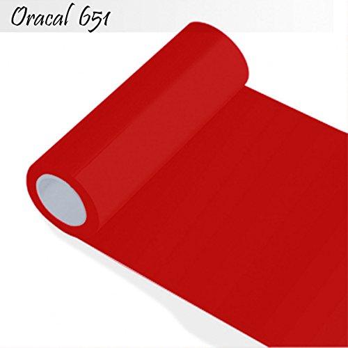 Oracal 651 - Orafol für Küchenschränke und Dekoration 63 cm Folienhöhe Breite Folie 5m (Laufmeter) - Rolle - Farbe 31-rot