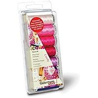 Gutermann - Set di fili da ricamo per macchina da cucire, in 100% viscosa Rayon 40, colore caramella