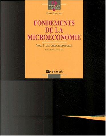 Fondements de microéconomie