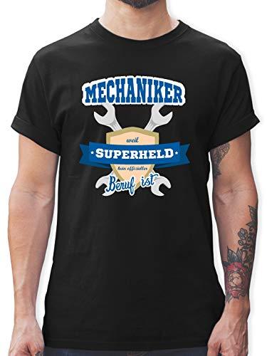 r - Weil Superheld kein offizieller Beruf ist - 3XL - Schwarz - L190 - Herren T-Shirt und Männer Tshirt ()