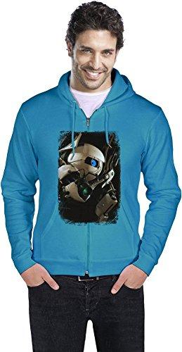 Portal 2 Robot Männer ReißverschlussHoodie Small