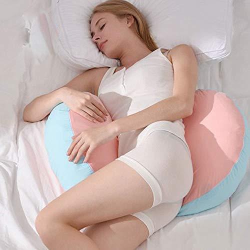 Mutterschaft Schlaf Kissen (Edelehu Multifunktionale Kissen Seite SCHLAFKISSEN Körper Schwangerschaft Kissen Schlaf Unterstützen Lenden Bauch Bein Baumwolle Abnehmbar und Waschbar)