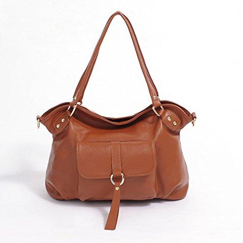 Chlln Eine Springflut Mode Leder Handtasche Leder Damen Handtasche Tasche Retro - Pendler - Cross - Leder - Tasche Brown
