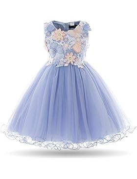 Cielarko Mädchen Kleid Prinzessin Blumenmädchen Sommer Hochzeit Kinder Weiß Kleider