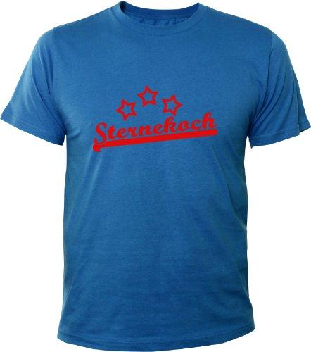 Mister Merchandise Cooles Fun T-Shirt Sternekoch Royalblau