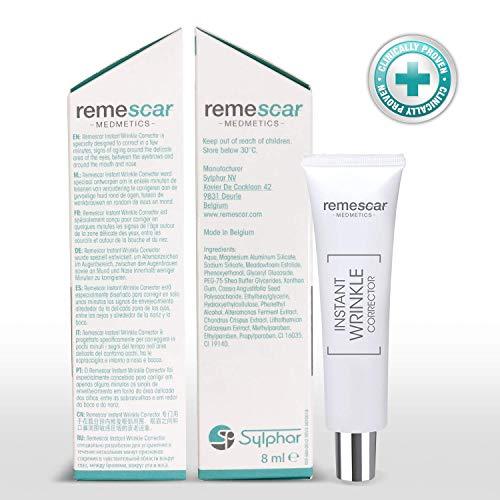 Remescar | Corrector de arrugas al instante | Probado clínicamente| Reducción de las arrugas y de los signos relacionados con la edad. | Crema antiarrugas para hombre y mujer | Resultados inmediatos