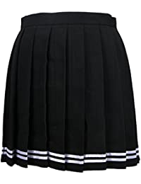 Ssowun Fletion Falda Plisada Japonesa cos Falda Macarons Falda Alta Cintura 1c9722dd9de9