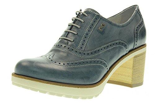 NERO GIARDINI scarpe donna inglesine con tacco P717200D/205 Blu