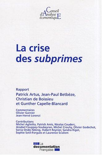 La crise des subprimes (CAE n.78)