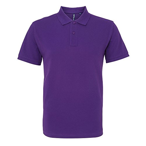 Asquith & Fox Herren Polo-Shirt, Kurzarm Violett