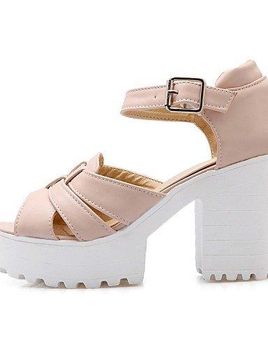 LFNLYX Chaussures Femme-Mariage / Bureau & Travail / Habillé / Décontracté / Soirée & Evénement-Noir / Bleu / Rose / Blanc-Gros Talon-Talons / Black
