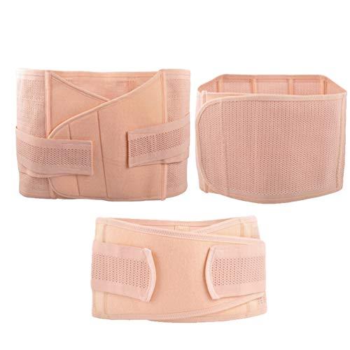 Xegood Damen 3 in 1 Shapewear Bauchgürtel Recovery Schwitzgürtel Postnatal Bauchgurt Multifunktionell Bauchweg Taillenformer Becken Gürtel-Taille Bauch/Taille/Becken