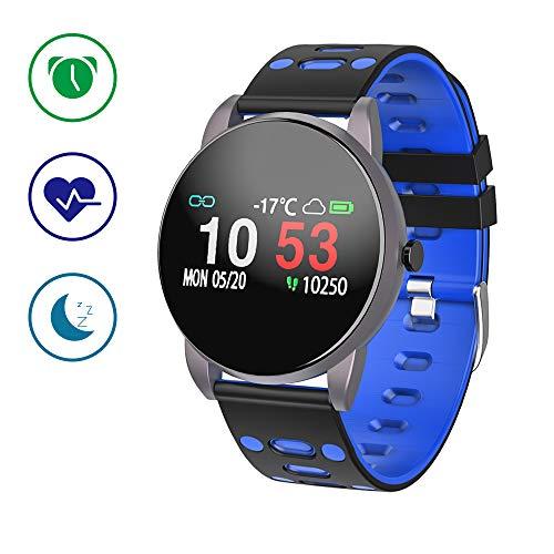 smartwatch, orologio intelligente braccialetto fitness activity tracker sportivo pressione sanguigna cardiofrequenzimetro da polso contapassi calorie cronometro uomo donna per iphone android ios