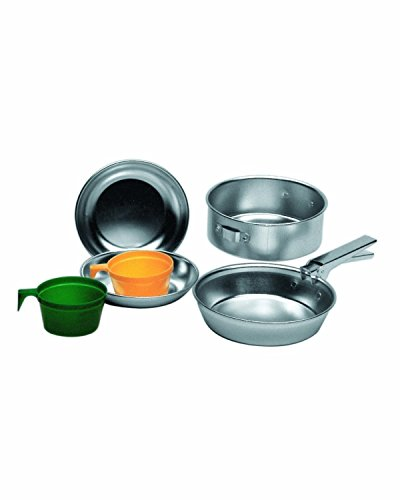 Price comparison product image Military 2 Person Lightweight Portable CAMPING COOK SET - Anodised Aluminium Outdoor Cookwear Cooking Kit