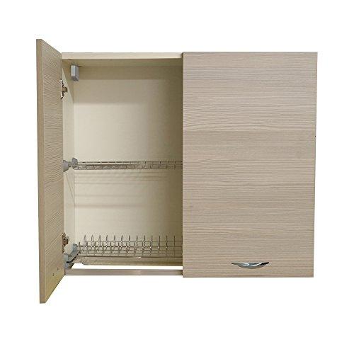 Divina Home Pensile da Cucina 40x35xh70cm Olmo Grigio Arredamento ...