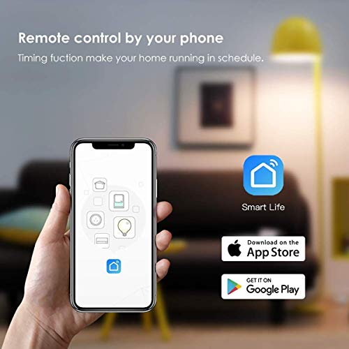 XERGY Smart Power Strip, Wi-Fi Surge Protector, Works with Alexa Echo , Google Assistant & IFTTT, Remote Control Individually, with 4 Smart AC Outlets and 2 USB Ports / Works with Alexa Home Automation - 1 Year Warranty Image 3
