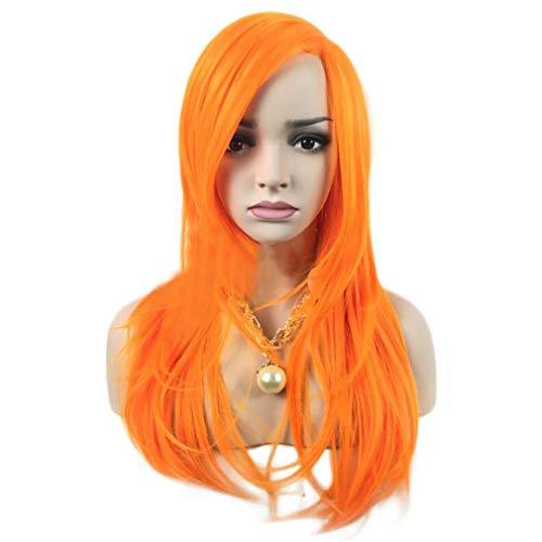 (ZHEDAN Perücke Orange Farbe Natural Hairline Tages Make-up Synthetische Perücken Hochtemperatur Seide Synthetische Perücken Cosplay Perücke (Orange))