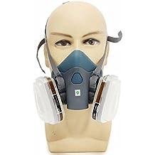 Máscara de silicona a prueba de polvo para mascarillas de aerosol Against químicas, plaguicidas,