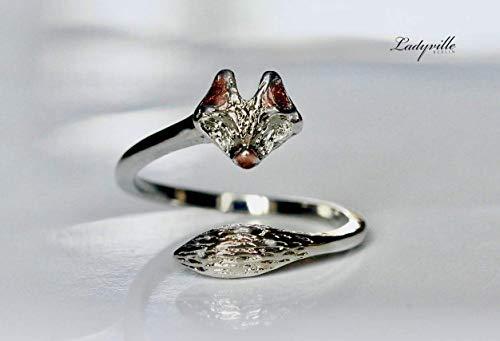 Ring Fuchs/Geschenk für Sie/Geschenk für Tierfreunde/Naturliebhaber/abstract Ring/Statement Ring/Tier Ring/größenverstellbar -