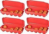 Kigima Eierbox für 10 Eier 4er Set rot
