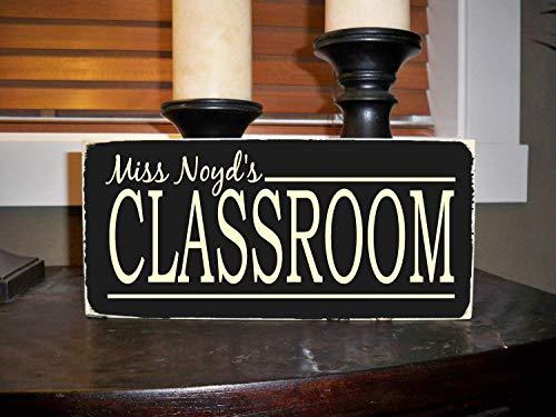 Monsety Lehrer Lehrer Lehrer Geschenk Personalisierte Klassenzimmer Dekoration Schule Lustiges Zitat und Spruch Home Craft Schild für Frauen Männer Einweihungsgeschenk