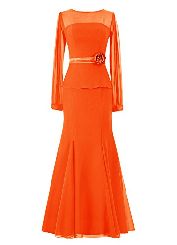 Dresstells, Robe longue de demoiselle d'honneur Robe de mère de mariée Tenue de mariage Orange