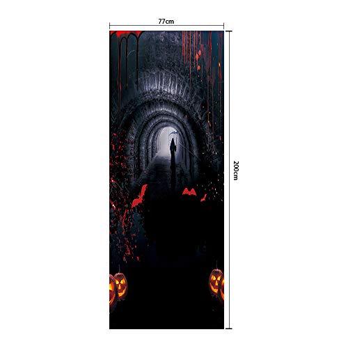 Türfolien, Selbstklebende Tapete Interieur, Halloween,77Cmx200Cm ()