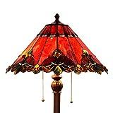 Bieye L30242 65 Zoll Barock Tiffany-Stil Glasmalerei Stehlampe