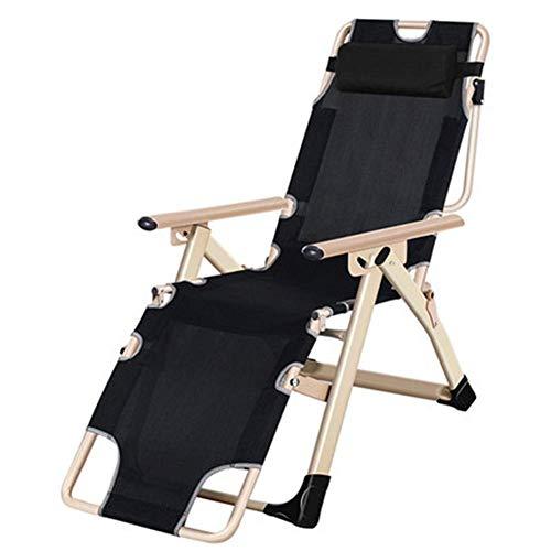 YLCJ Camping Stuhl Relaxing Relaxing Stuhl Schwerkraft, Multi-Position Deckchair, Tragbare Ultralight Folding mit Kopfstütze, Perfekt für Garten/Camping/Reisen/Angeln/Wandern/PIC