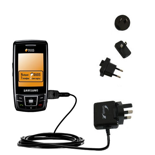 10W Gomadic Steckdosen-Ladegerät AC kompatibel mit Samsung SGH-D880 DUOS mit Energiesparmodus und TipExchange