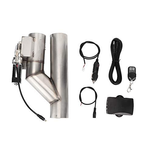 EBTOOLS Accessorio per auto kit di telecomando per valvola di controllo dello scarico di scarico elettrico in acciaio inossidabile universale da 2,5 pollici