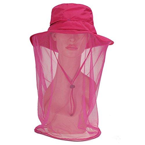 o Schutz Kopf Netz Kopfnetz Moskitonetz mit Kopf Net Mesh ( Rosa-rot) ()