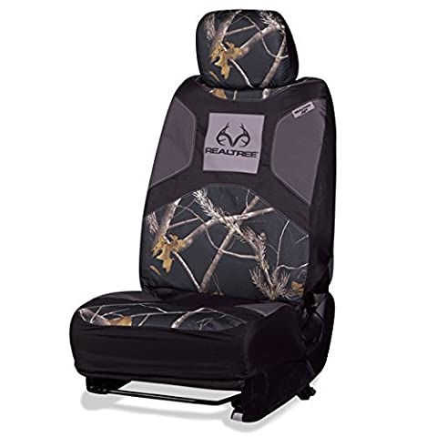 Realtree Low-Back Black Camo Bucket Seat Cover (Realtree APC Camo,