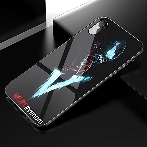 YZTEVXWE MVP Tempered Glass Hard Back Soft Edge TPU Black Phone Cases Cover for iPhone 6 Hülle Case/iPhone 6S Hülle Case (Not Plus)