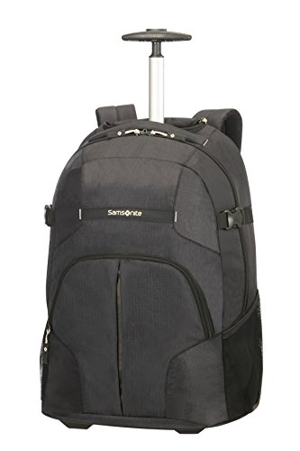 Samsonite Rewind, Laptop Zaino con Ruote Unisex, Nero (Black), 32.5 liters, XL (55cm-32.5L)