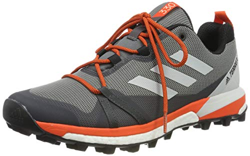 adidas Herren Terrex Skychaser LT Laufschuhe, Mehrfarbig (Grey Three F17/Grey One F17/Active Orange F36117), 45 1/3 EU (Adidas Herren Trail-schuhe)