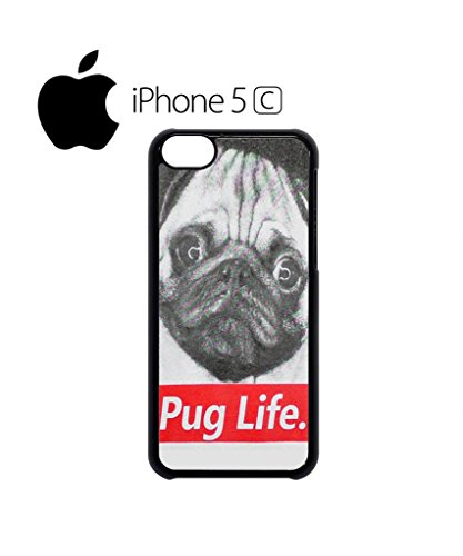 Pug Life Dog Doggie Animal Funny Mobile Cell Phone Case Cover iPhone 5c White Weiß